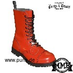 Boots and Braces: Boots in fire red, 10 Loch